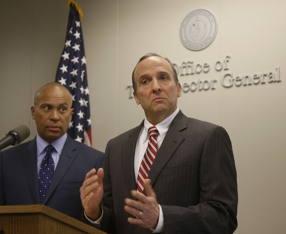Massachusetts Inspector General Glenn A. Cunha talks about his investigation of the Hinton Drug Lab at a news conference in Boston on Tuesday. The lab was shut down in 2012 in the wake of criminal acts by chemist Annie Dookhan.