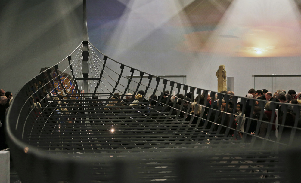 "A new exhibition titled ""Vikings: Life and Legend"" at the British Museum in London features the biggest Viking ship ever found. It was unearthed on a Danish fjord in 1997, is 120 feet long and had 40 pairs of oars."