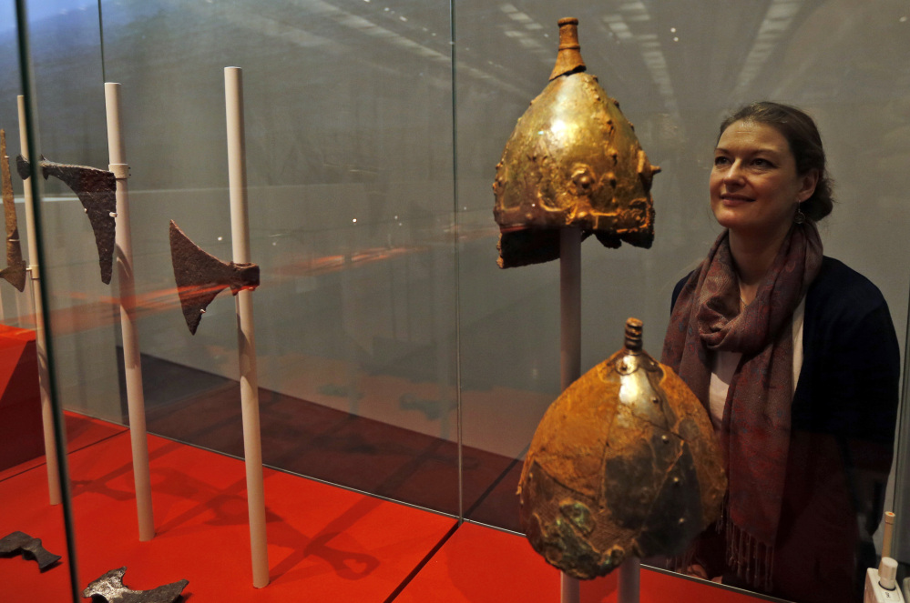 These are the simple metal skullcaps that Vikings wore. Helmets sprouting wings or horns were a Victorian invention.
