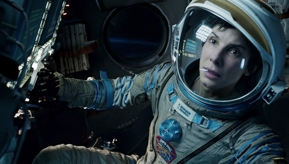 "Sandra Bullock in ""Gravity,"" which was nominated for the best picture Oscar. ""Gravity"" is the York Public Library's Winter Film Series offering on Sunday."