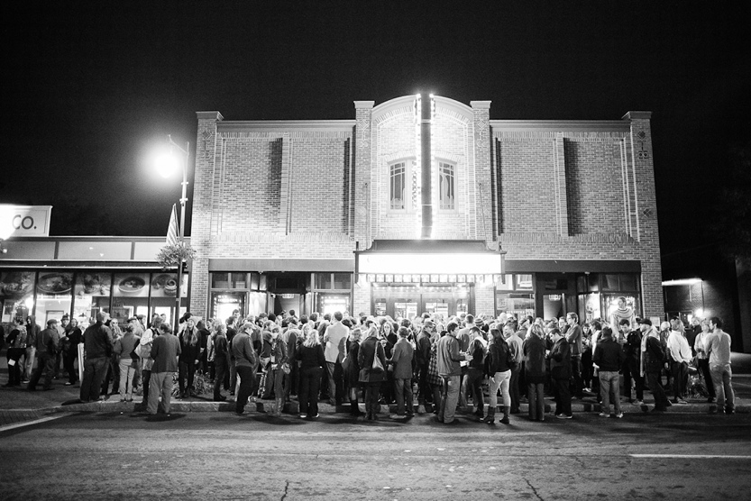 The crowd forms at the Strand Theatre in Rockland for a previous Camden International Film Festival.