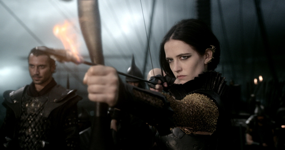 Eva Green, a one-time Bond babe, as the seductive swordfighter Artemisia.