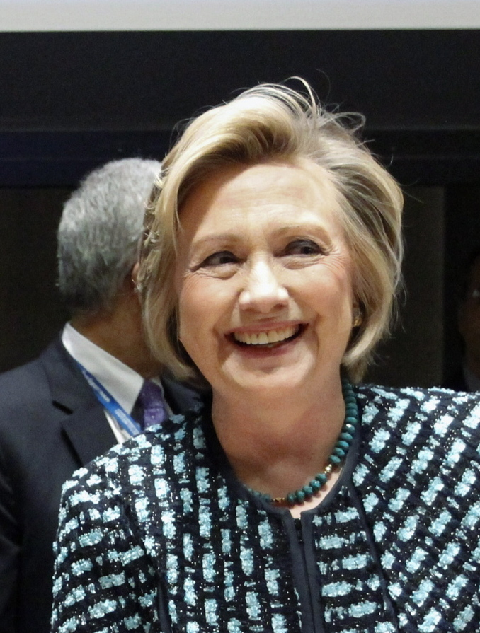 Former U.S. Secretary of State Hillary Clinton speaks out for women's rights at U.N. headquarters Friday.