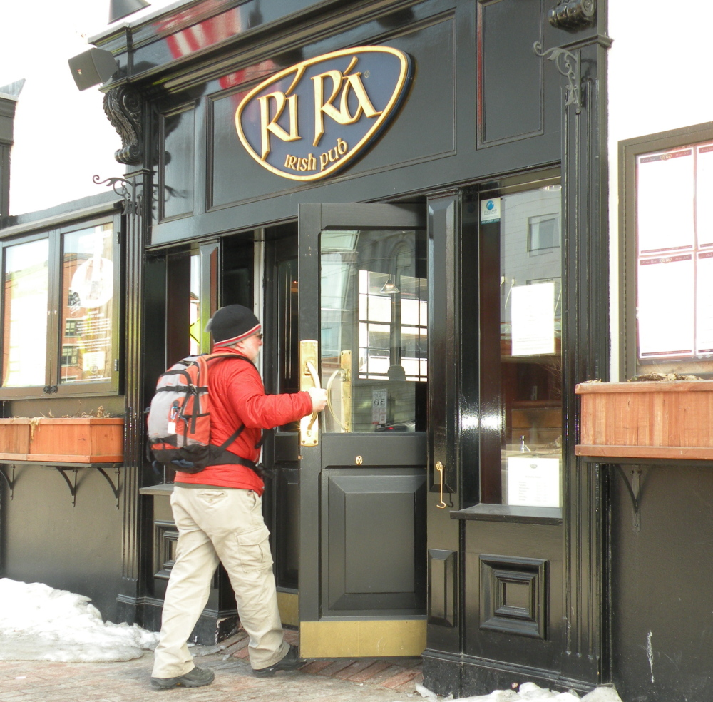 Carey Kish deserves a pint or two of Guinness at this Old Port pub – having already hiked off many calories, he can now consume.