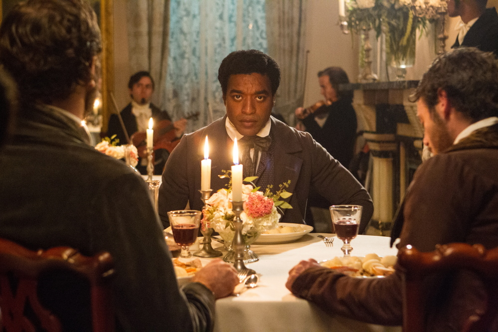 "Chiwetel Ejiofor played Solomon Northup in ""12 Years a Slave,"" the true story of a free black man who was kidnapped and sold into slavery."