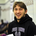 Eric Delmonte of Deering set a state record in the 100-yard breast stroke and also won the 200 individual medley at the Class A state championships.