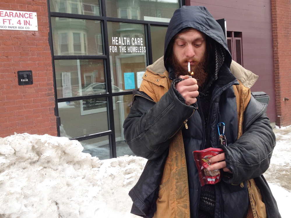 Matt Coffey, 35, says he occasionally visits Portland's Health Care for the Homeless clinic and feels comfortable there. He's worried about the plan to mix the homeless population with other types of patients at a different clinic, saying it could lead to problems.