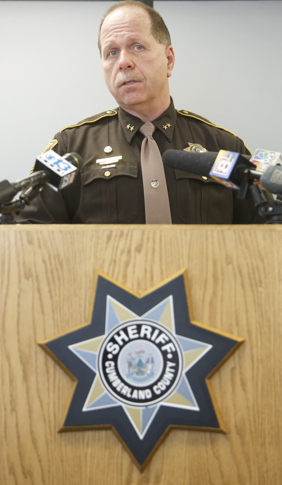 Cumberland County Sheriff Kevin Joyce talks about an incident last weekend at the Cumberland County Jail in which a female inmate sneaked out of her cell and had sex with a male inmate in his cell.