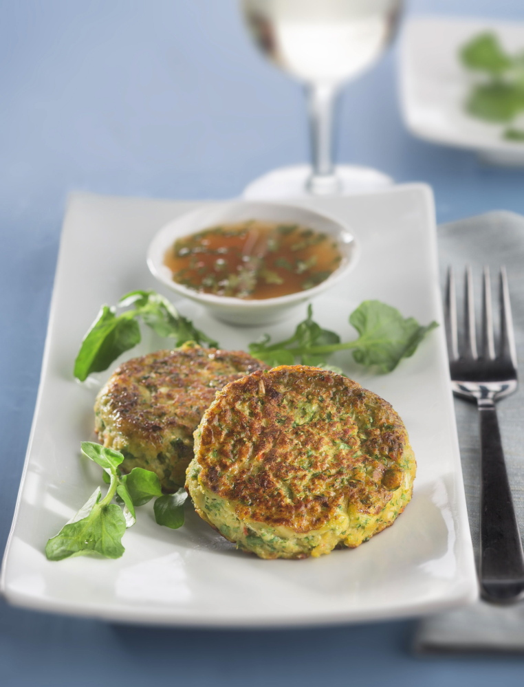 Spicy fish cakes with zesty citrus sauce and a salad make a flavorful and light Lenten meal.