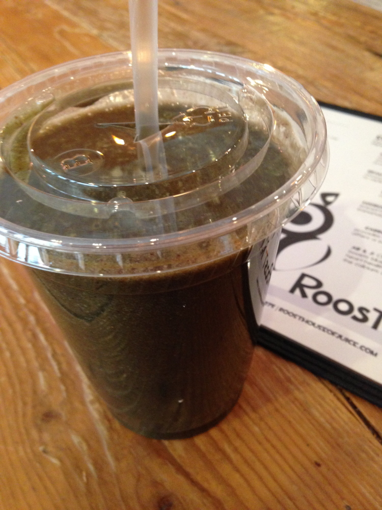 Green smoothie from Roost