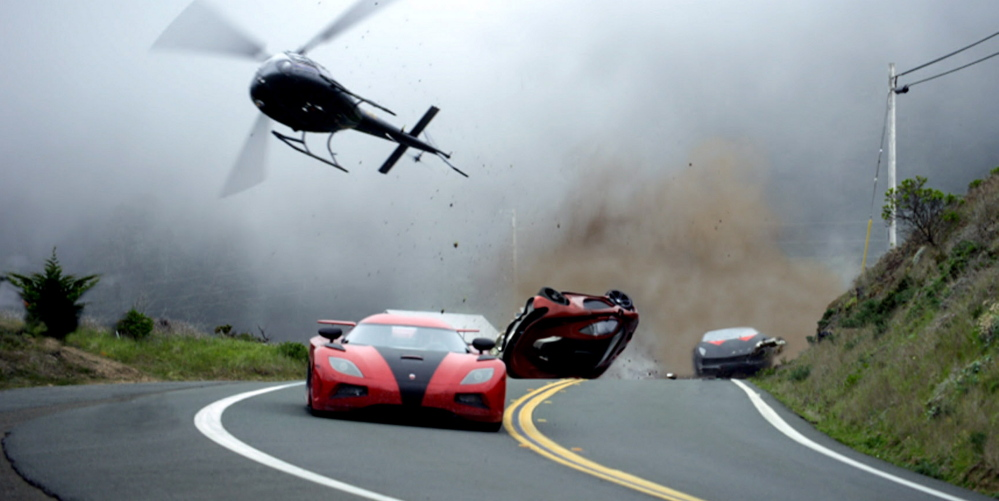 The car chases – and crashes – are mostly real with little digital enhancement in