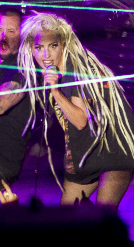 Lady Gaga performs at Stubb's in Austin, Texas, during the South by Southwest Music Festival on Thursday.
