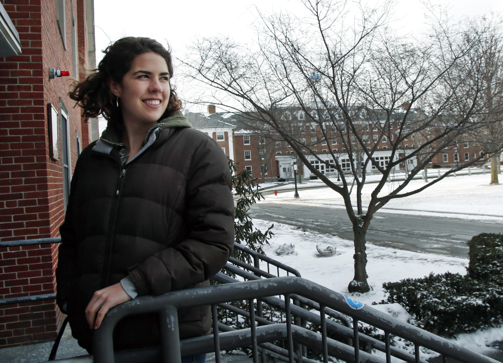 """Freshman Lydia Collins, 19, took a year after high school and worked in Ecuador through Global Citizen. """"A lot of kids are very burnt out after high school,"""" she says. """"Taking this time to be with yourself and see yourself in a new community and light will only help you to succeed in college."""""""