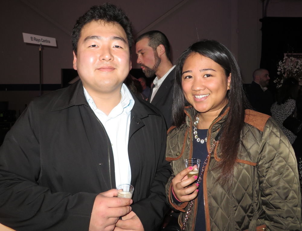 Kyung Rim and Luisa Nazareno of Portland at the drink and dessert event benefiting Preble Street programs.