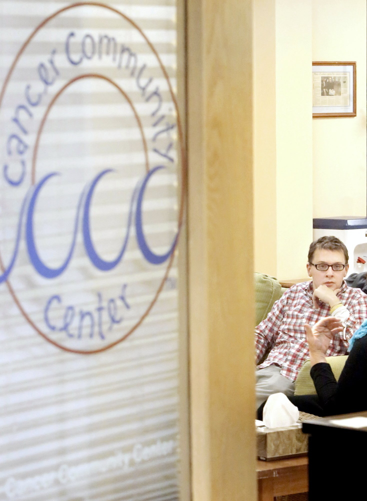 At the Cancer Community Center, young-adult cancer survivors talk about treatments, their overall health and whatever else they want to discuss.