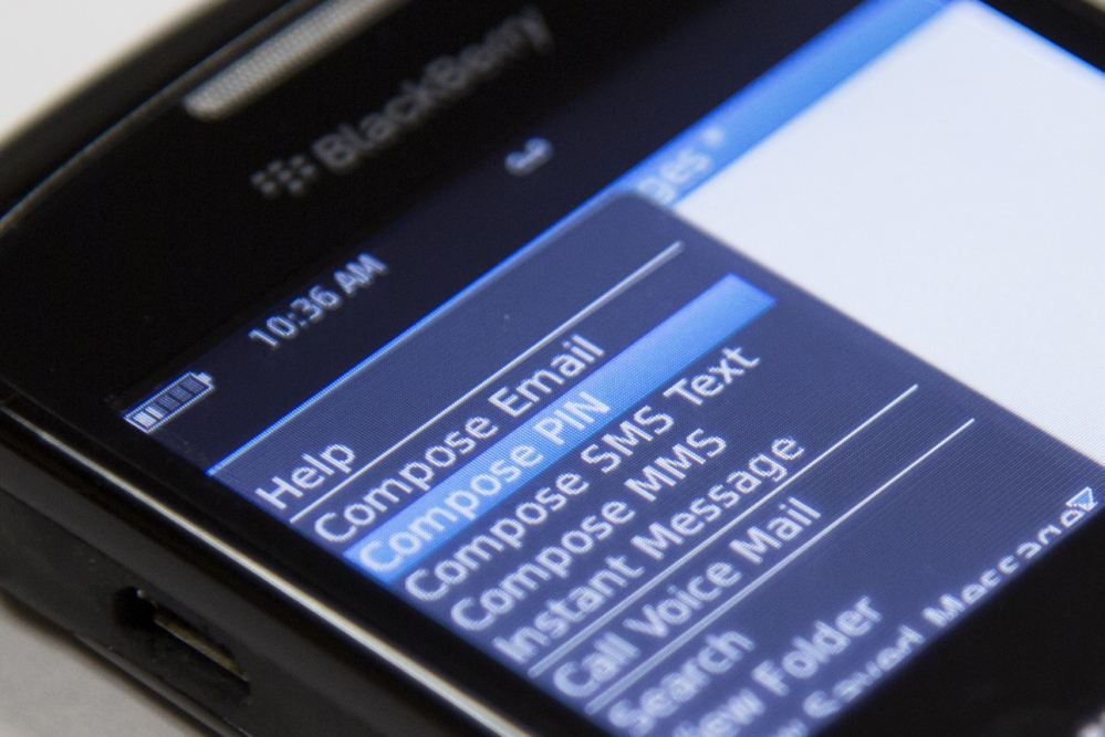 BlackBerrys like the one above can have a feature allowing untraceable messages not stored on state servers.