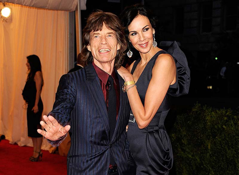 Singer Mick Jagger and L'Wren Scott attend an event in New York. Scott, a fashion designer, was found dead Monday in Manhattan of a possible suicide.