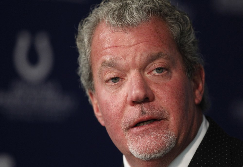 Indianapolis Colts owner Jim Irsay was arrested Sunday night in the northern Indianapolis suburb of Carmel.