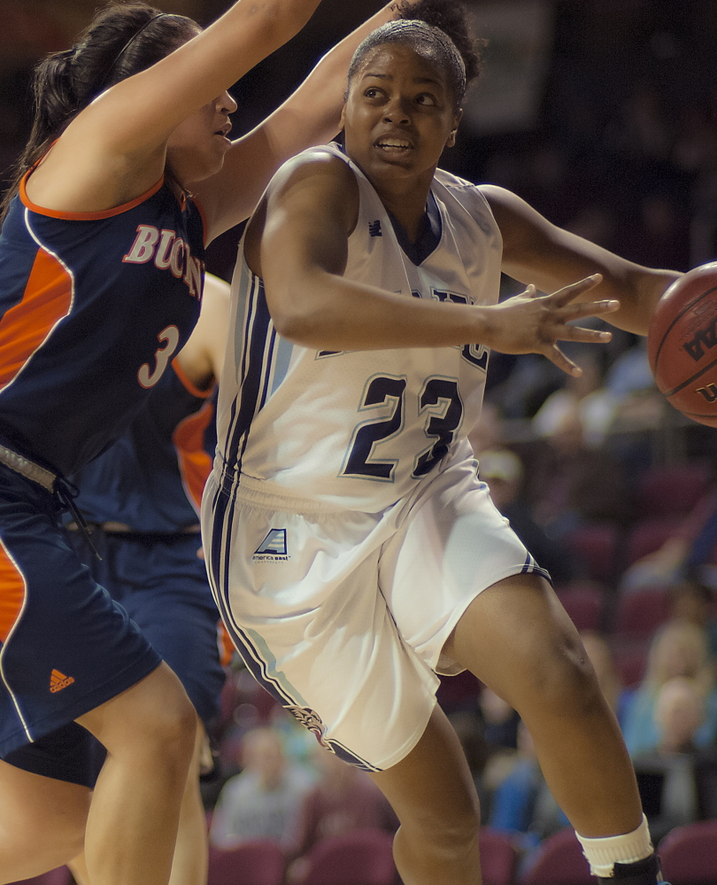 Ashleigh Roberts, a senior whose UMaine career appeared over after a loss in the league tourney, is benefiting from this tournament appearance.
