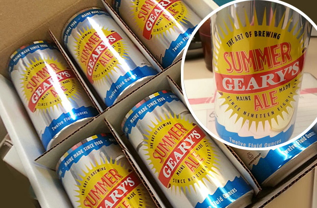 Geary's Summer Ale in cans.