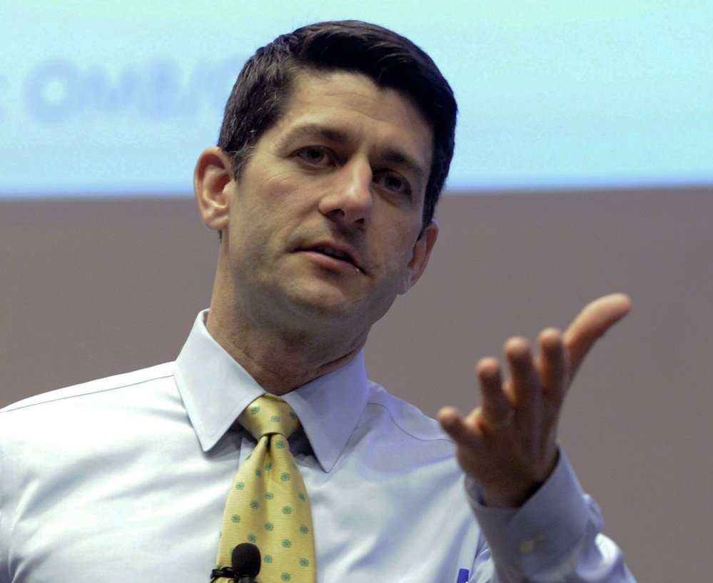 Rep. Paul Ryan, R-Wis., answers constituents' questions at the Snap-on Headquarters in Kenosha, Wis. His remarks last week about inner-city poverty brought accusations of racism.