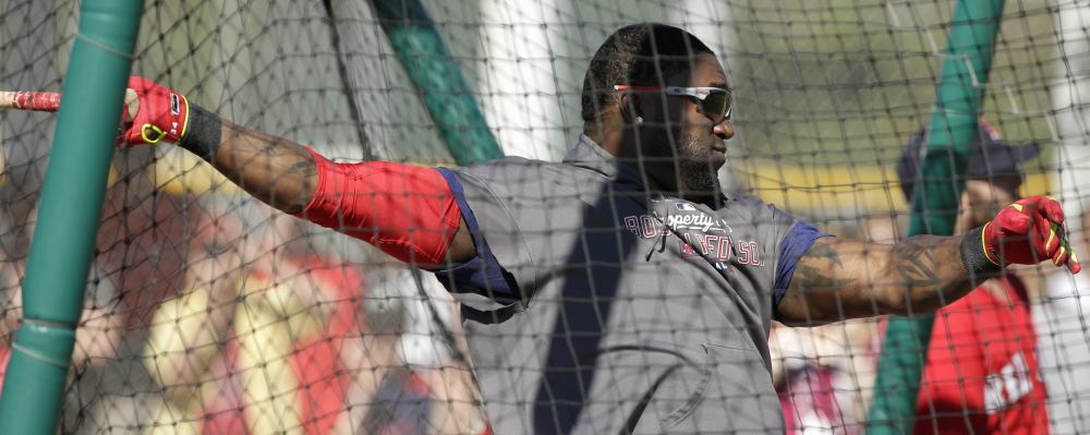 Designated hitter David Ortiz will be with the Red Sox for at least two more years after he and the team settled on a contract extension through 2015, with options for 2016 and 2017.