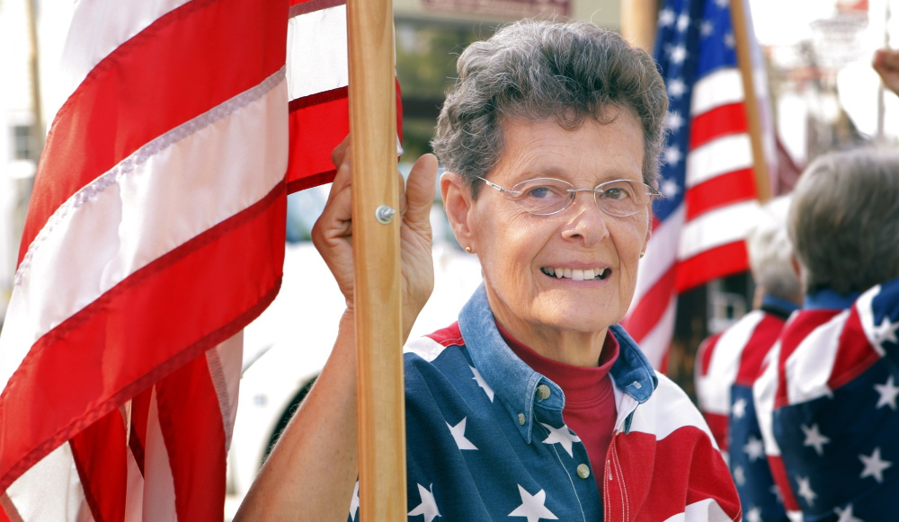 Carmen Footer, one of the three Freeport Flag Ladies who meet on Tuesdays, is recovering from heart surgery.