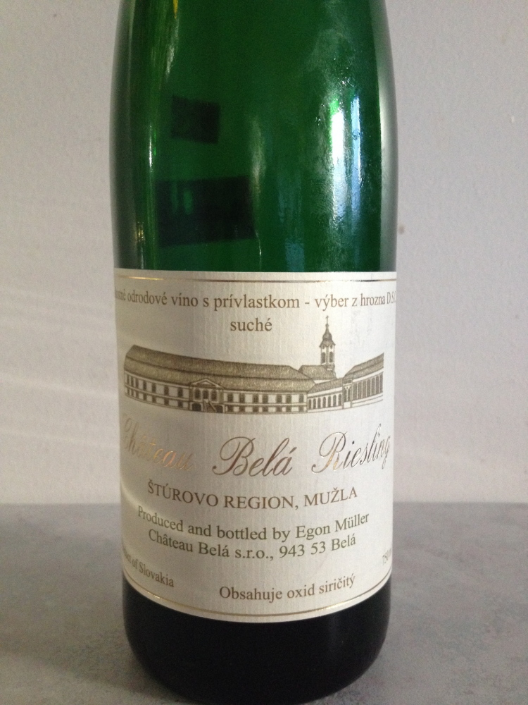 Château Belá Riesling, vintage 2011, tastes fresh and vital but has one foot in a world we've forgotten.