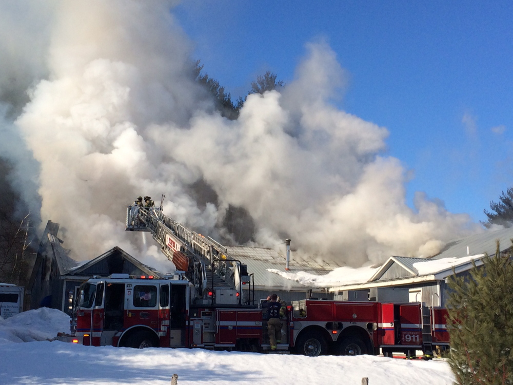 Salvage Starts After Intense Fire Hits Gorham Business