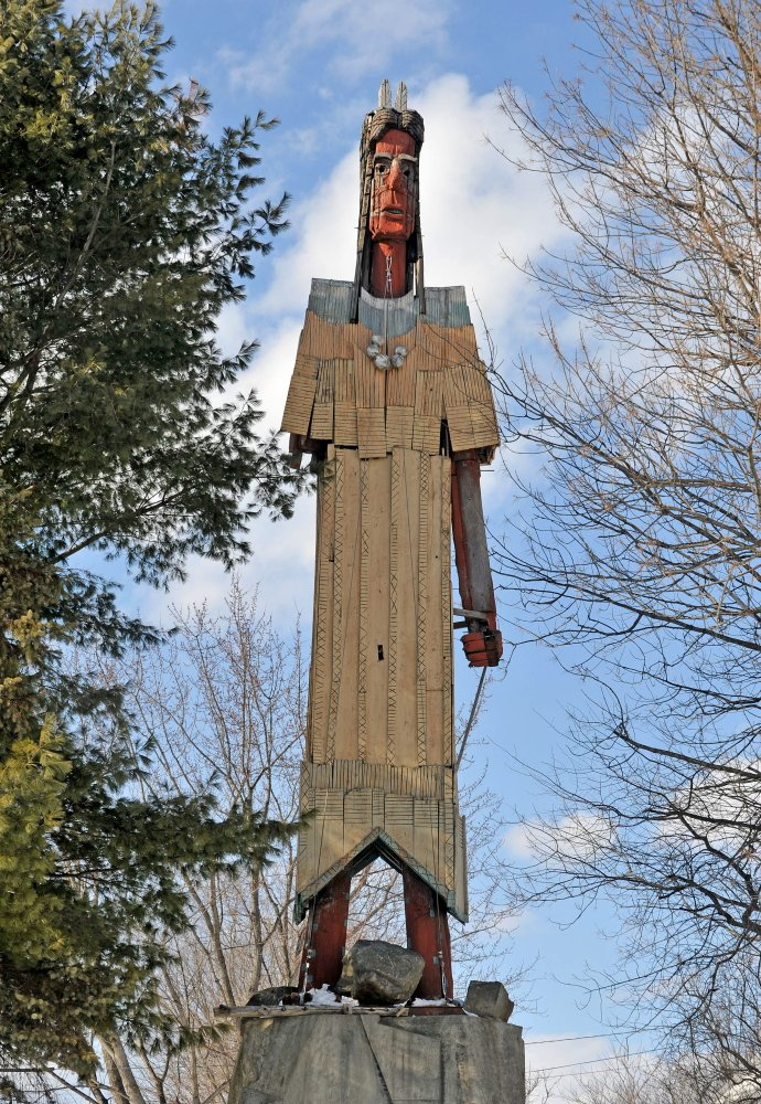 BEAUTIFICATION: The Skowhegan Town Council is discussing a proposal to develop the area around the Skowhegan Indian to make it more tourist accessible.