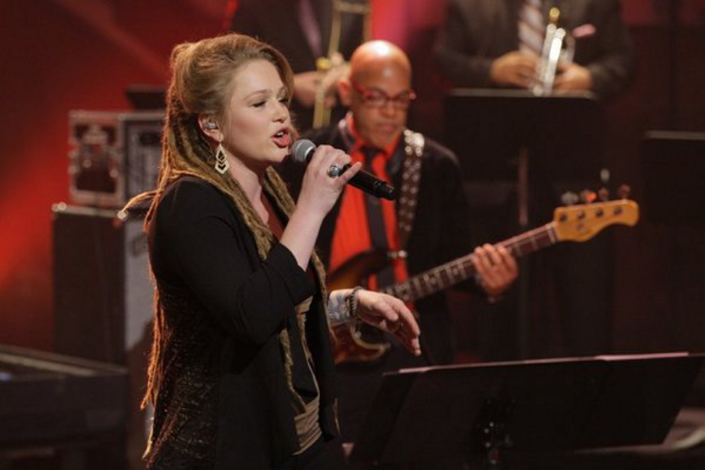 "Crystal Bowersox, shown on ""The Tonight Show"" last year, will perform at Jonathan's in Ogunquit on Sunday."