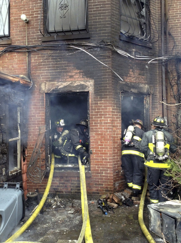 Two firefighters died and 18 people were taken to the hospital.