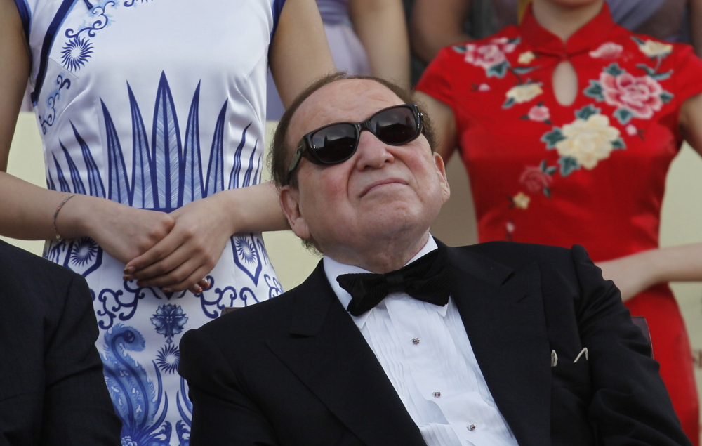 Las Vegas Sands Chairman and CEO Sheldon Adelson attends the opening of the Sands Cotai Central resort in Macau on April 11, 2012. Adelson, a Republican who is one of the richest people in the world, is in the market for a new horse to back in the 2016 presidential race.