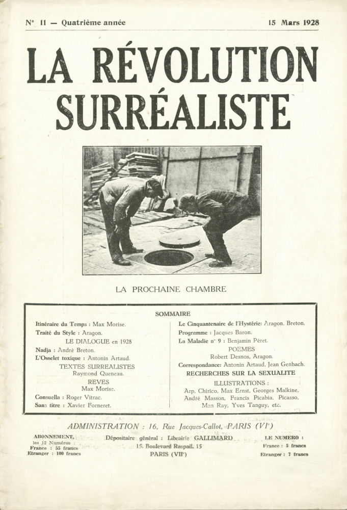 "The Surrealists' journal ""La Révolution Surréaliste."""