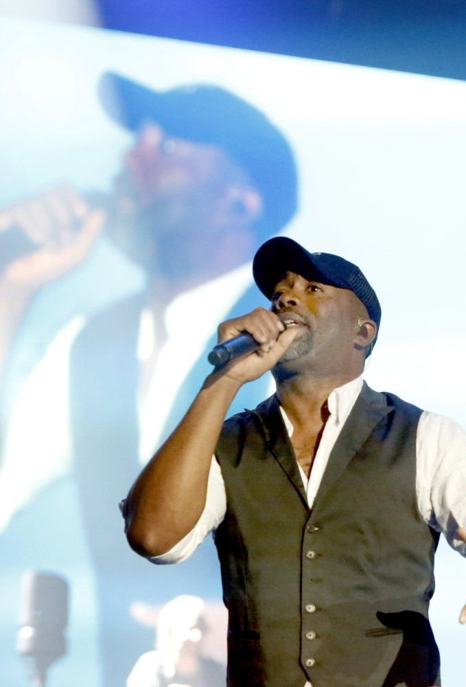Darius Rucker performs at the Cumberland County Civic Center on Saturday night.