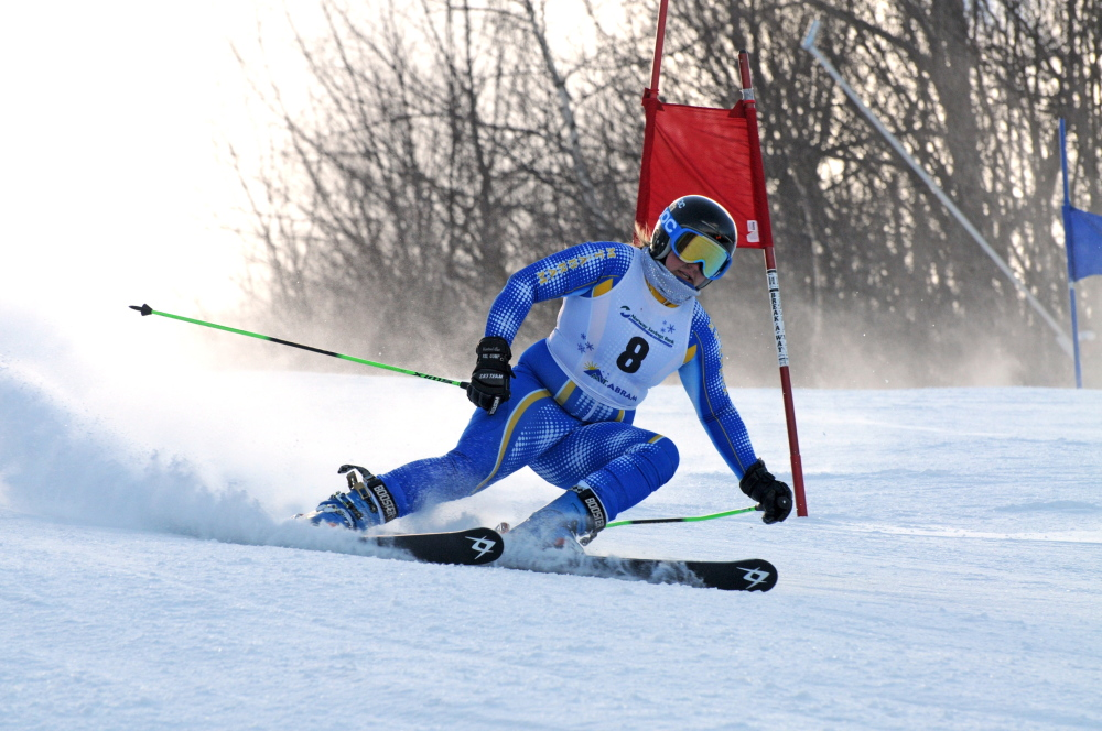Elise Luce ended her high school career with seven state championships – four in giant slalom, three in slalom – and an Eastern high school championships giant slalom title.
