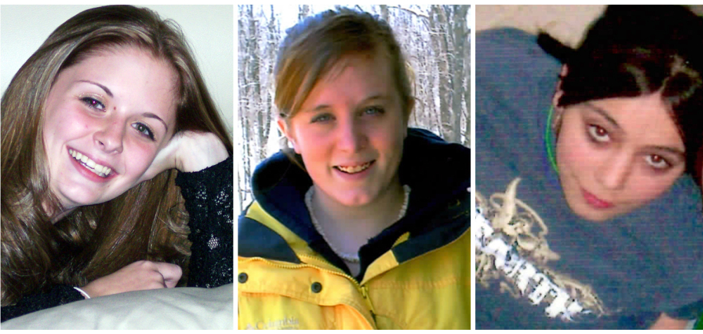The Associated Press Family photos show, from left, Amber Marie Rose, Natasha Weigel and Amy Rademaker. All three were killed in car crashes involving GM's Cobalt during 2005-2006.