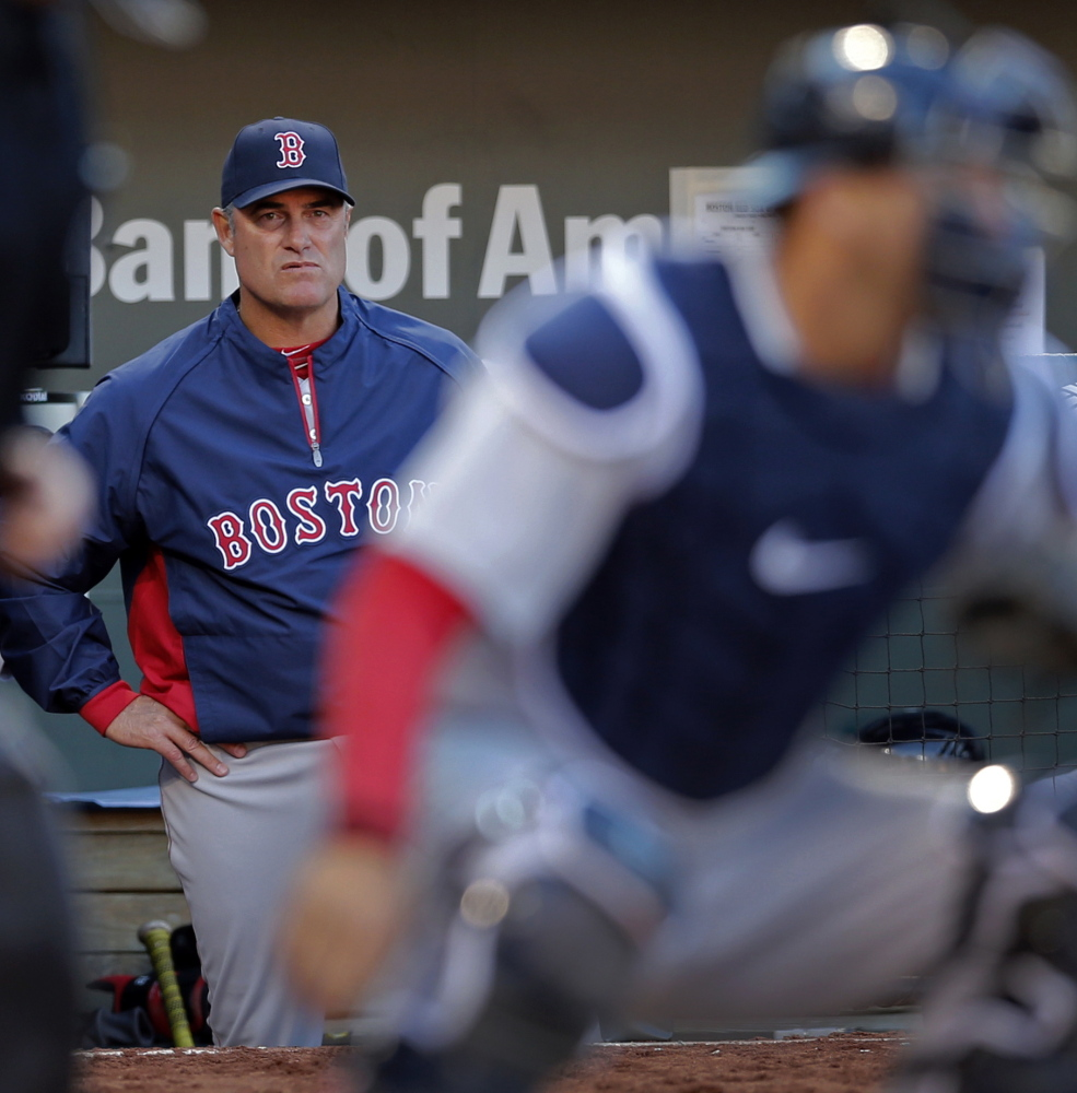 Red Sox Manager John Farrell probably didn't like what he saw from the dugout Monday. The Red Sox stranded 12 runners on base and were 0 for 10 with runners in scoring position.