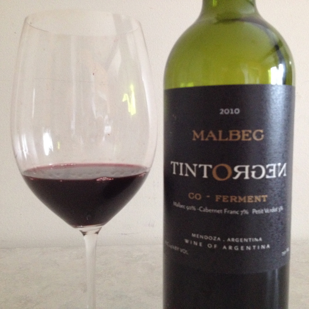 Tintonegro Co-Ferment is 90 percent Malbec, fermented together with a little Cabernet Franc and a bit of Petit Verdot, all terrifically well integrated.