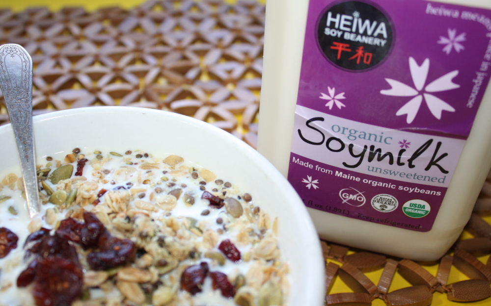 Unsweetened organic soy milk from Heiwa Soy Beanery in Belfast stands out for its earthy, beany flavor.