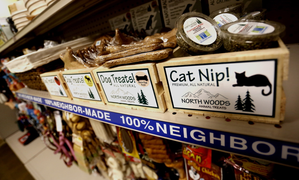 "New, ""100% Neighbor-Made"" products have been added to the pet section at Goodwill of Northern New England in South Portland as the organization changes its business model."