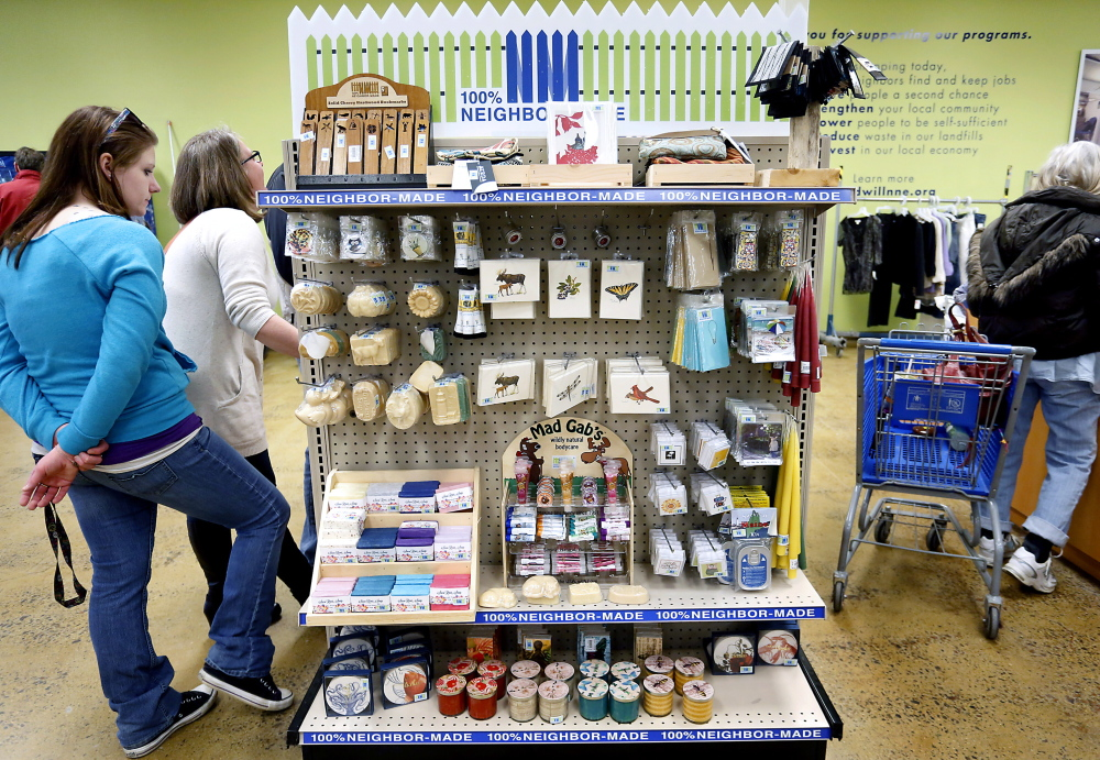 Regional products are now for sale at Goodwill of Northern New England in South Portland and 26 other outlets, but donated goods will remain the mainstay of the stores.