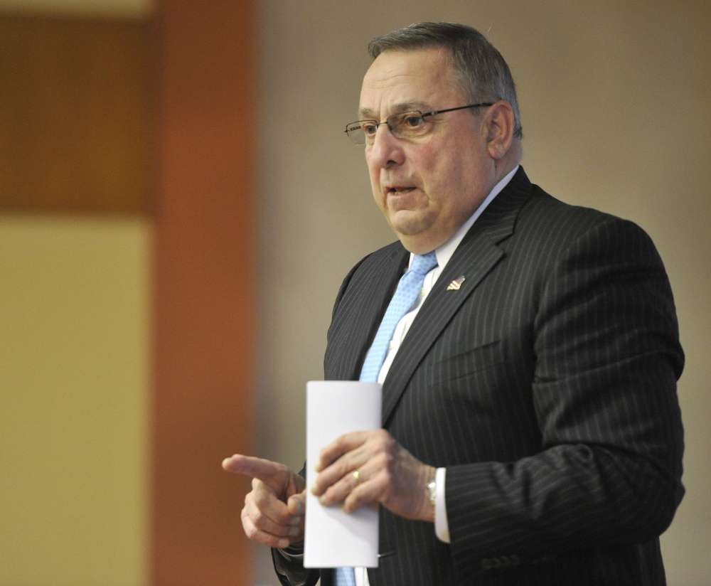 Gov. Paul LePage's office said that it's the Legislature's budget in explaining why the governor didn't sign the bill.