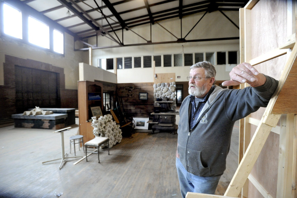 ric Matheson, shown at the South Portland armory, could relocate his film production facility from that building to Portland.