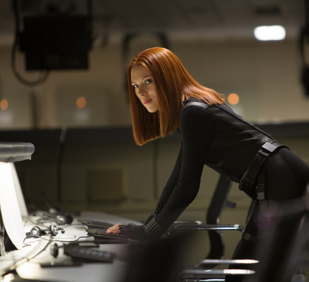 "Scarlet Johansson is the Black Widow in ""Captain America: The Winter Soldier."""