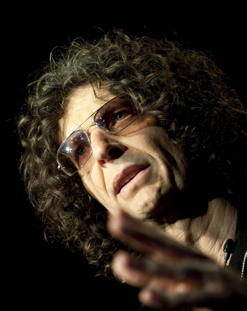 """Radio/TV personality Howard Stern says his """"plate is full"""" when asked if he's interested in replacing David Letterman."""