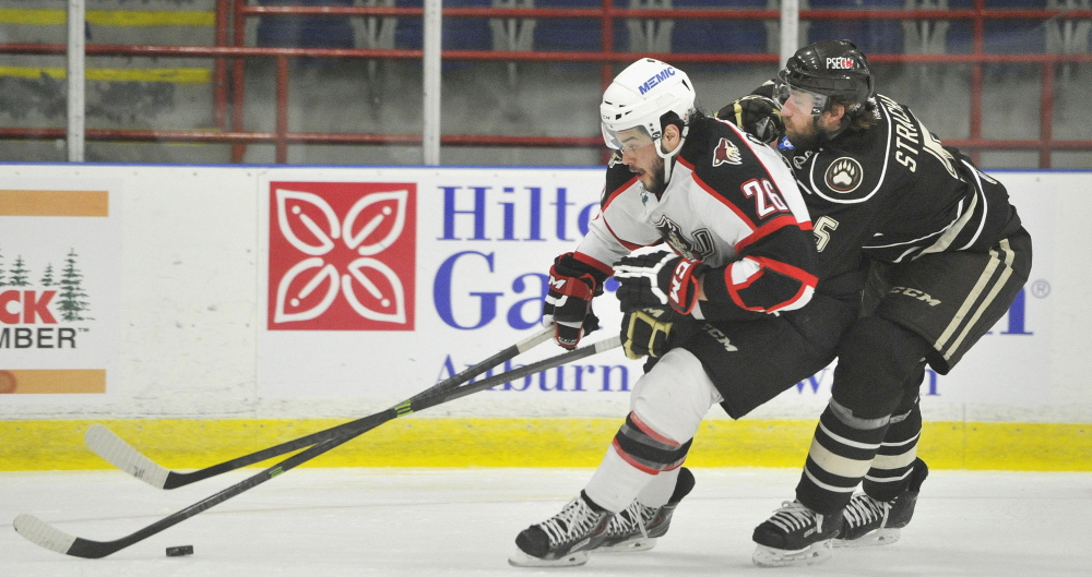 It would be a reach to say the 2013-14 season has been anything less than disastrous for the Portland Pirates, notwithstanding the efforts of players like left wing Darian Dziurzynski, shown vying for a puck against the Hershey Bears at the Colisee.