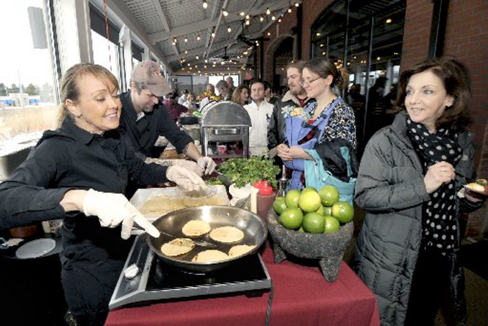 """Shannon Bard, left, competing in the 2013 Incredible Breakfast Cook-Off in South Portland, will appear Thursday on the Food Network's """"Beat Bobby Flay."""""""