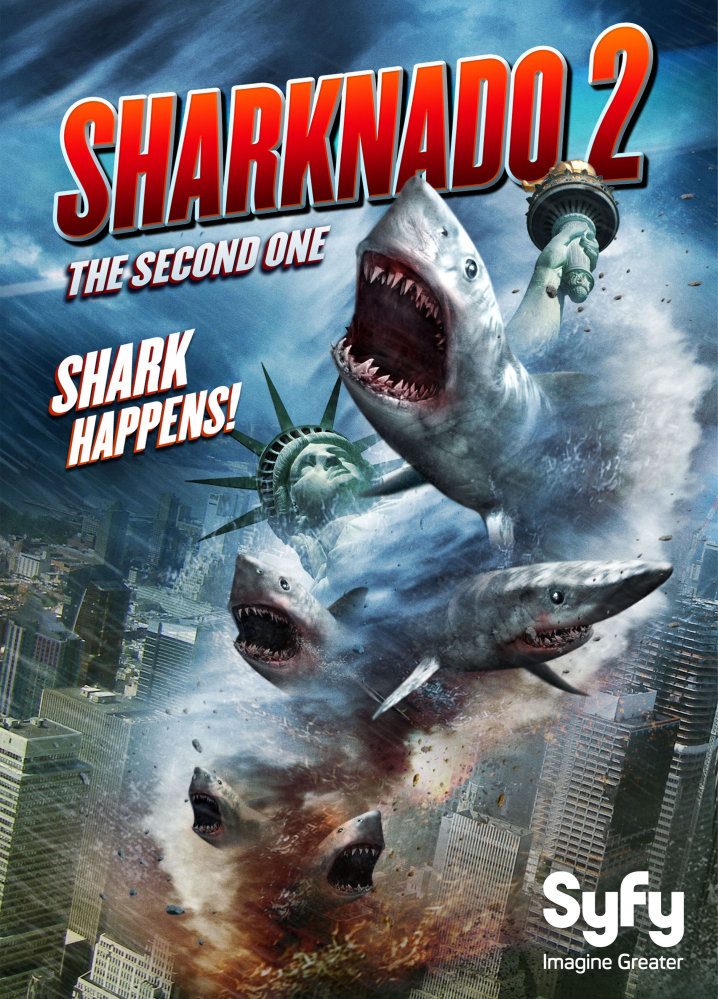 """The movie """"Sharknado 2: The Second One"""" is set to take a bite out of New York City on July 30."""
