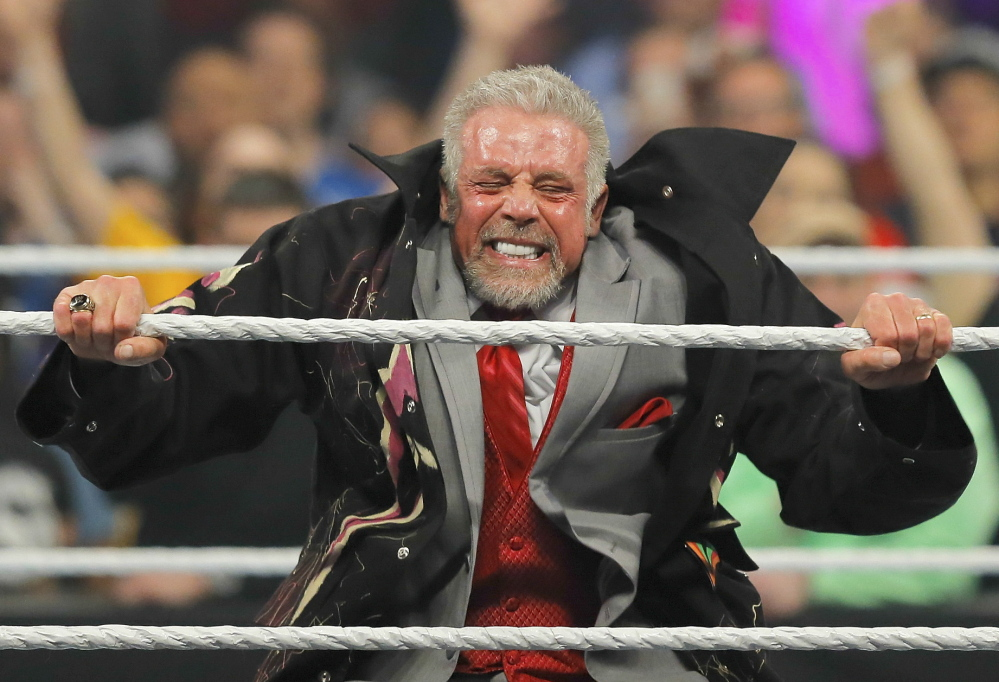 """James Hellwig, The Ultimate Warrior, makes a return Monday to WWE's """"Monday Night Raw"""" at the Smoothie King Center in New Orleans. He died within 24 hours."""
